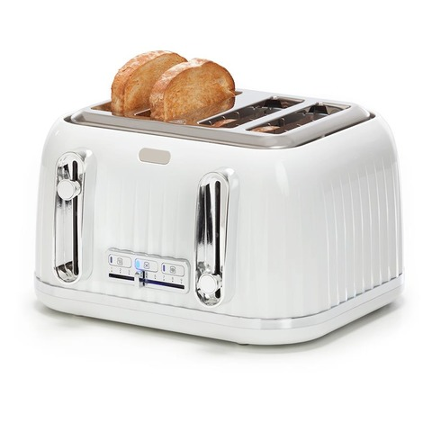 4 Slice Euro Toaster - White