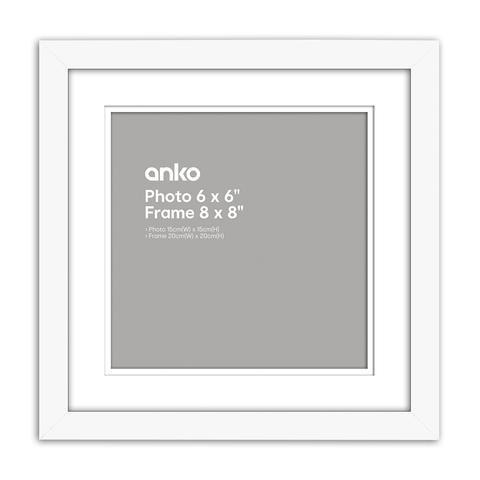 Nice Photo Frame - 6in. x 6in. (15cm x 15cm), White | Kmart