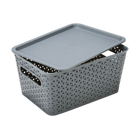 Storage Container with Lid - Small, Grey