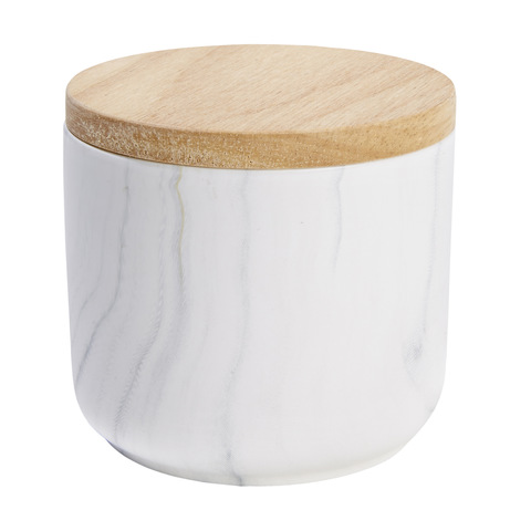 KMart Marble Patterned Canister - Small
