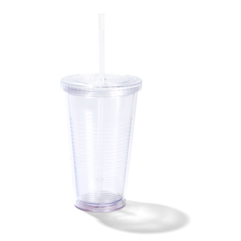 Clear Cup with Straw