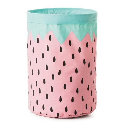 Collapsible Storage Hamper - Strawberry
