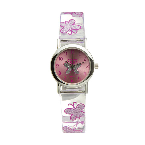 Butterfly Print Watch - Pink
