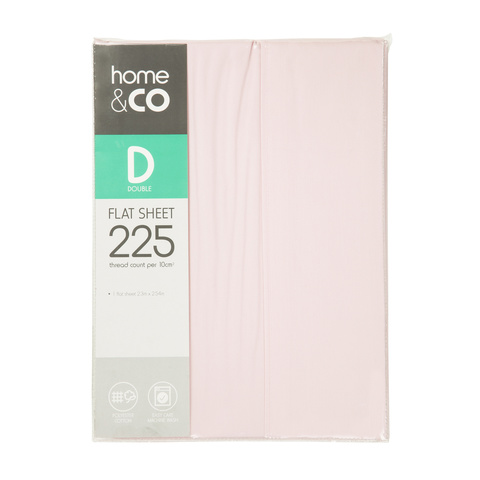 Flat Sheet - Double Bed, Pink