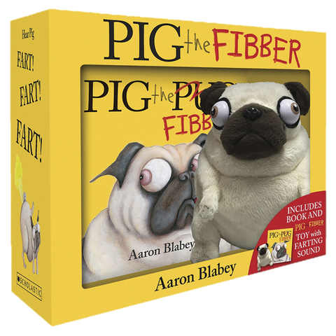 Pig The Fibber by Aaron Blabey - Book & Toy