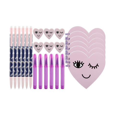 24-Piece Purple Stationery Pack