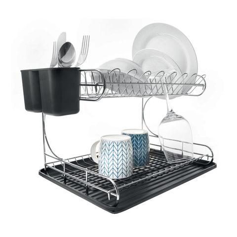 Dish Rack.2 Tier Chrome Dish Rack Kmart