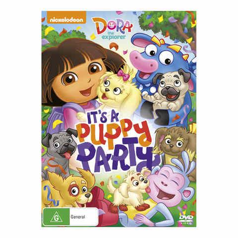 Dora The Explorer Its A Puppy Party DVD Kmart