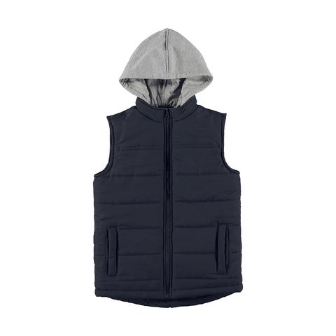 18d0e0e7931 Fleece Hooded Puffer Vest
