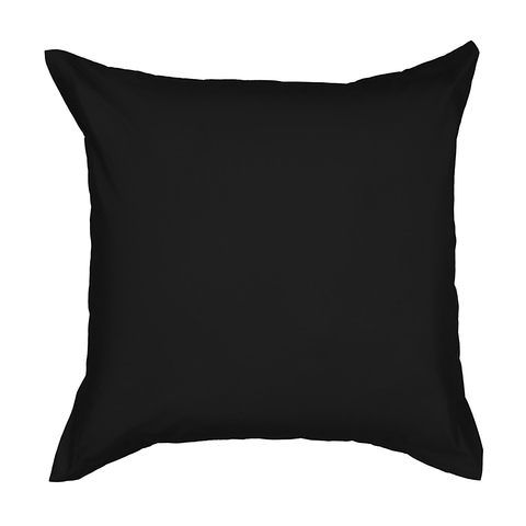 225 Thread Count European Pillowcase - Black