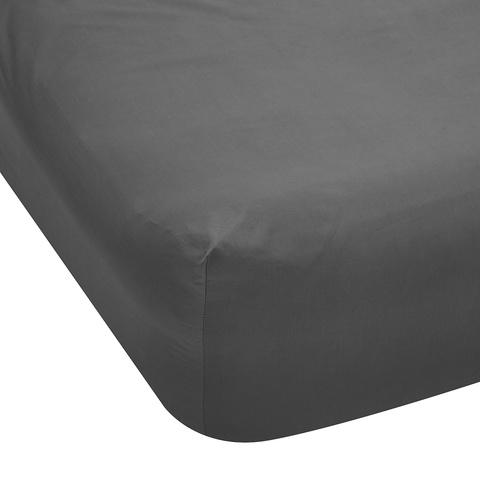 225 Thread Count Fitted Sheet - Queen Bed, Grey