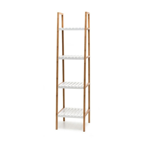 4 Tier Shelf with Bamboo Shelf