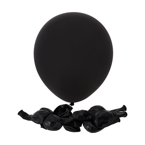 25 Pack Black Balloons