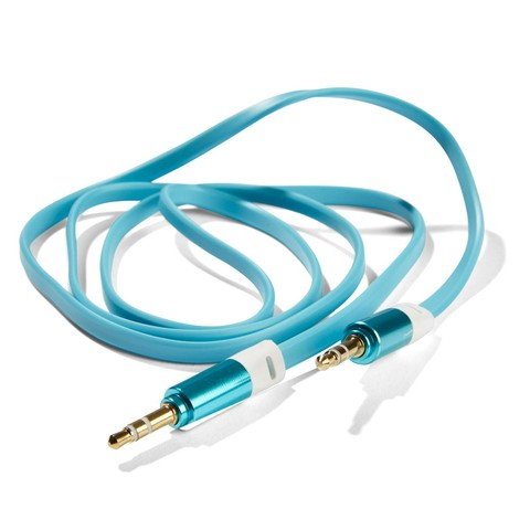 Flat Aux Cable - Teal