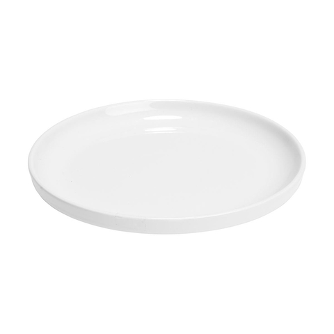 2 Super White Lipped Side Plates