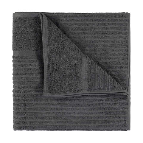 Metro Ribbed Cotton Bath Sheet - Grey