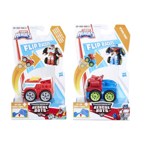 Flip Racers Transformers Rescue Bots - Assorted