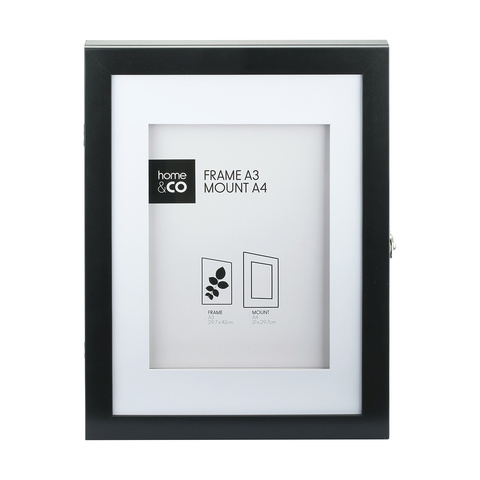 Black hinged art display kmart