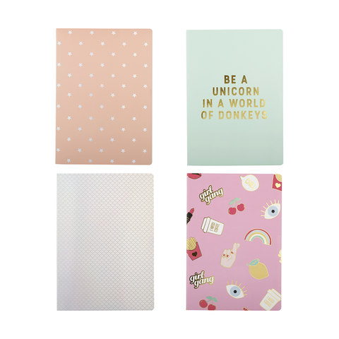 4 Pack B5 Notebooks