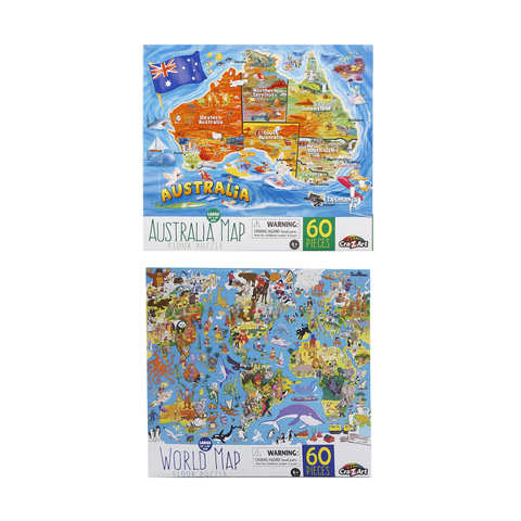Map floor puzzle assorted kmart gumiabroncs Choice Image