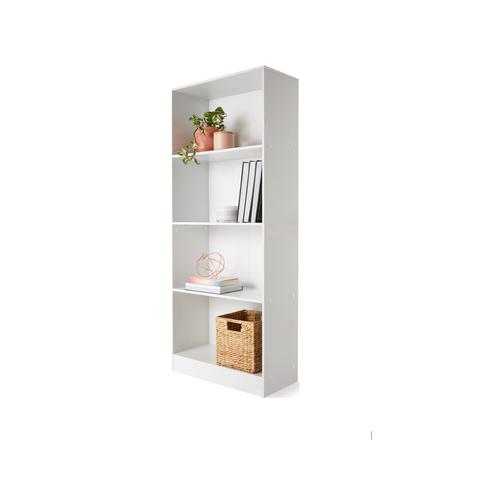 4 Tier Bookshelf White