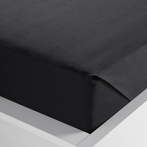 225 Thread Count Flat Sheet - Double Bed, Black