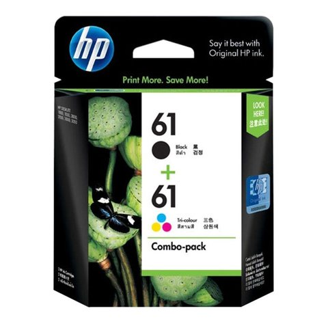 HP 61 Ink Cartridge Combo Pack - Black & Colour