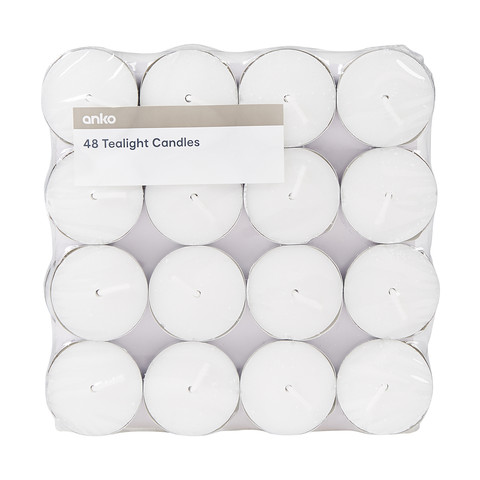 48 Pack Unscented Tealights