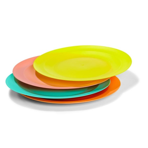Plastic Dinner Plates - Set of 4