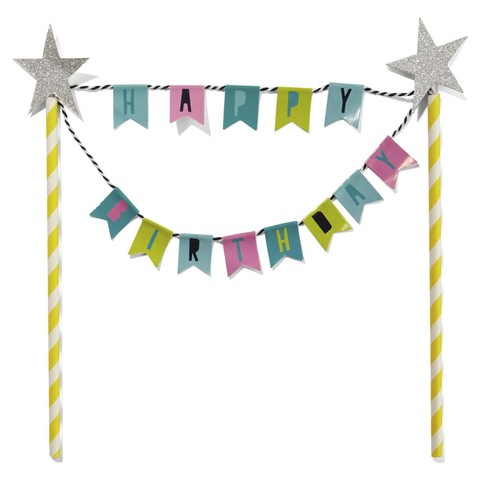 Cake Topper - Happy Birthday Bunting