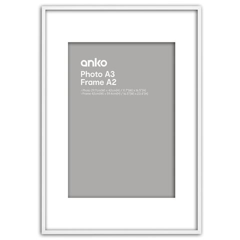 A2 Photo Frame White - 29.7cm x 42cm | Kmart