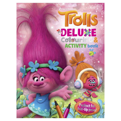 Trolls Deluxe Colouring Amp Activity Book Kmart