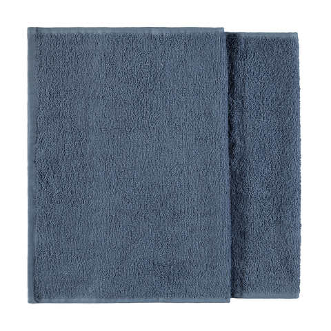 Madison Cotton Hand Towels - Ocean, Set of 2