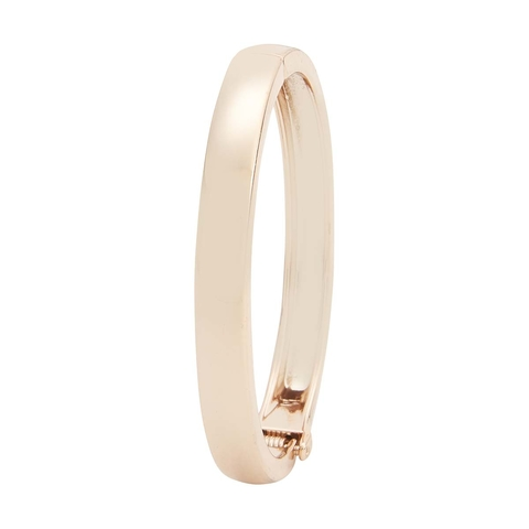 Hinge Bangle - Rose Gold Look
