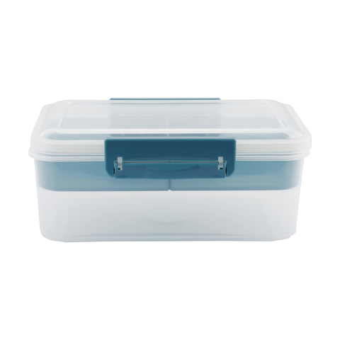 1.9L Container with Tray - Indigo