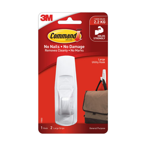 3M Command Large Utility Hook - White