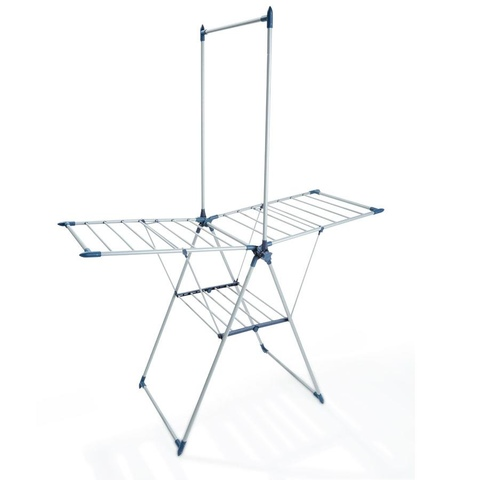 Winged Clothes Airer with Garment Rack
