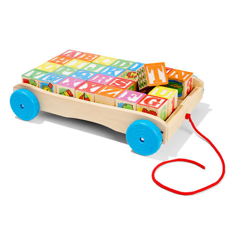 Pull-Along Wagon with Learning Blocks