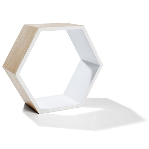 Hexagon Shadow Box - Brown