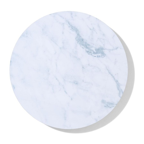 Round Marble Effect Corkback Placemat