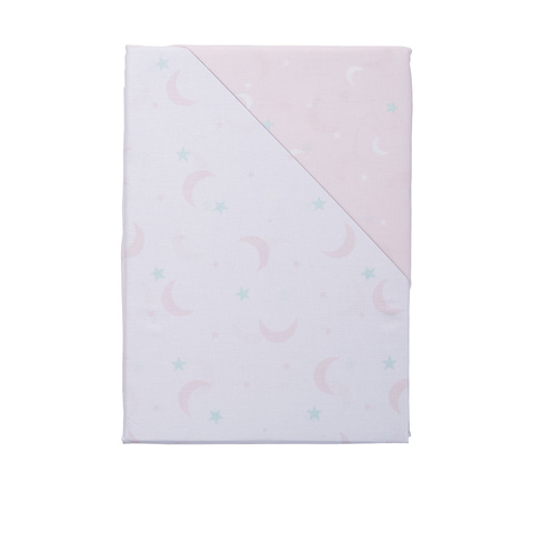 3 Piece Cotton Cot Sheet Set - Pink Sky