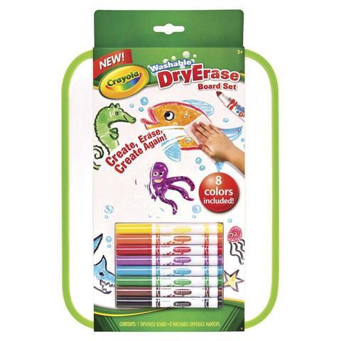 crayola washable dry erase board set kmart