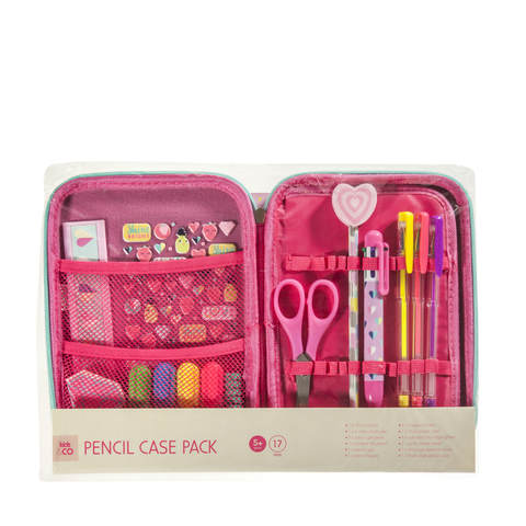 17-Piece Pencil Case Pack - Pink