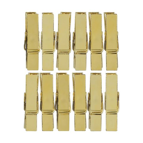 Pegs - Gold, Pack of 12