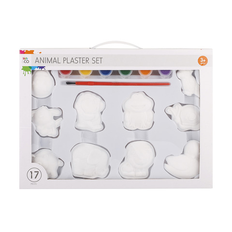 17-Piece Animal Plaster Set