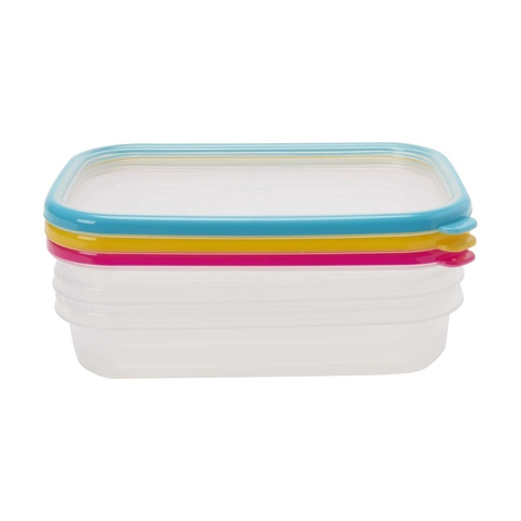 3 660ml Rectangle Containers
