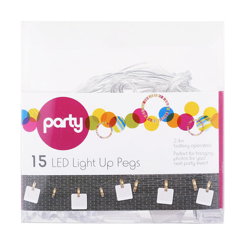 LED Light Up Pegs - Pack of 15