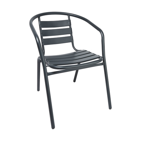 Charcoal Cafe Metal Chair