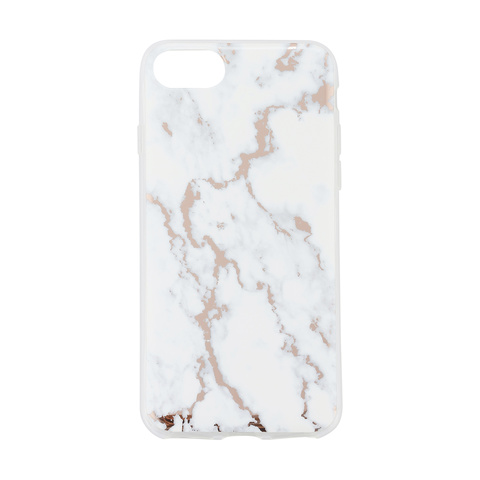premium selection 2f0a3 23fb6 iPhone 6/6s/7/8 Rose Gold Marble Look Case | Kmart