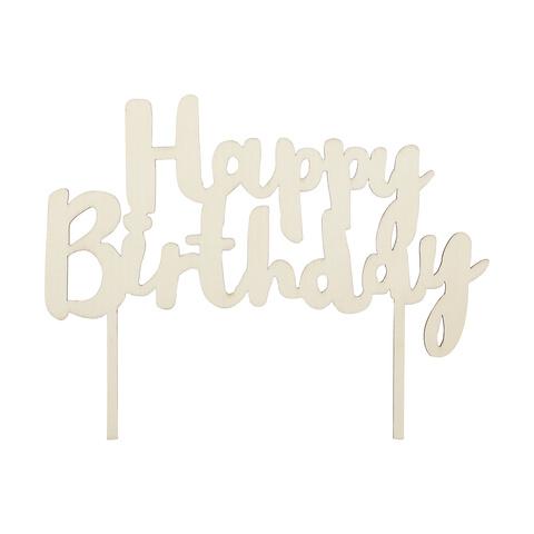 Admirable Happy Birthday Cake Topper Kmart Personalised Birthday Cards Petedlily Jamesorg